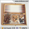 Wooden Travel Mini Chess Set Draughts 3 in 1 Backgammon Educ Toys for Children 48*24*5.2CM