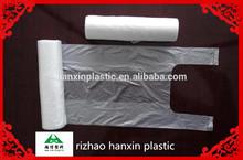 Hitech production machine tshirt plastic bags on roll cheap price