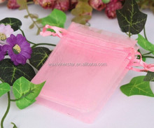 Manufacturer Supply Nice Performance Putting Jewelry Great Looking High Quality Microfiber Organza Bag