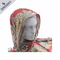 Cheap Fashion Flower Printed Dubai Muslim Scarf for Lady