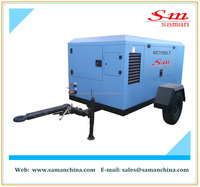 242 kw portable diesel driven screw air compressor foreign trade company