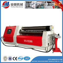digital dispaly plate bending machine,double pinch plate roll W12-8x2000