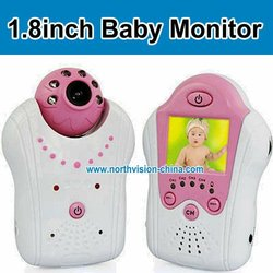 NG-1801,1.8-inch 2.4G cheap and wireless video audio baby monitor,Synchronous transmission of audio and video,night vision