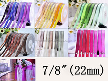 """7/8""""(22mm) Double Face Satin Ribbon Bow Gift Wrapping Ribbons"""