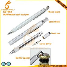 Paypal accepted Tech tool pen Tool pen 8 in 1 Multi tool pen with ruler screw driver
