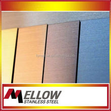 Mellow Aisi 304 HL Hairline Finished Stainless Steel Decorative Wall Panels For Sink/ Elevator/ Cabinet