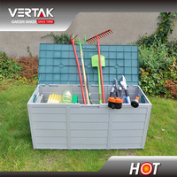 Plastic outdoor storage box, patio storage box, garden storage box