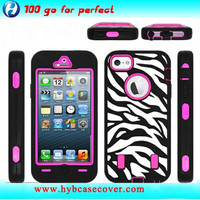 professional factory mobile phone case Zebra laser finishing robot combo cases for iphone 4s