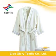 Billige baumwoll-frottee weiß und ebene gefärbt handtuch bademantel china großhandel