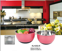 stainless Steel mixing Bowl with silicone base / color bowl/mixing bowl set