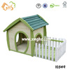 Easy assembled wooden dog house with balcony for outdoor