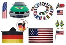 Customized Promotion colourful spanish flag