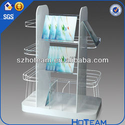 Magazine/Newspaper Metal Brochure Holder Acrylic/Plexi/PMMA paper brochure holders