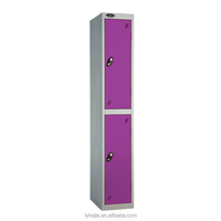 Hanging Clothes Locker Storage Cube Single 2 Door Metal Closet Iron Stainless Steel Chest