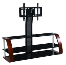 Home furniture living room wooden glass cheap modern lcd led tv stand