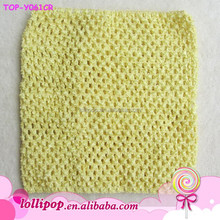 2015 wholesale New design yellow crochet tube top crochet top tutu lined