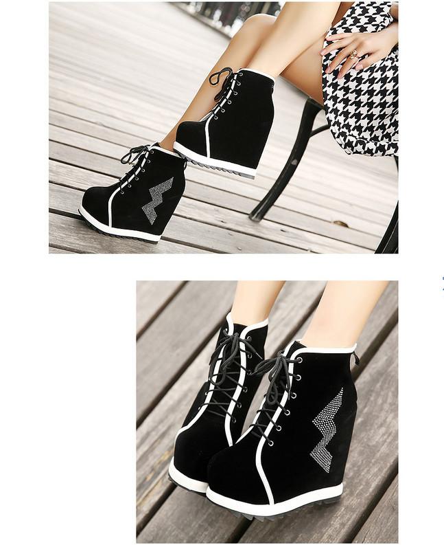 осенью и зимой в Европе и Америке новых женщин моды случайные кружева алмаз склоне перед сапоги на высоких каблуках