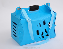 Pawhut Portable Folding Dog Kennel Travel Carrying Tote Bag - Blue
