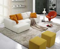 Modern White Design Living Room Leather Sofa , living room sofa furniture , leather corner sofa designs