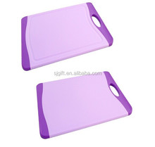 Set of 2 Antimicrobial Cutting Boards, Slip Resistant, Soft Grip Handles