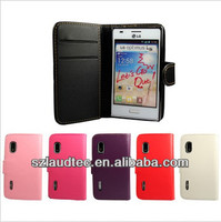 WALLET PU LEATHER FLIP CASE COVER FOR LG OPTIMUS L5 E610