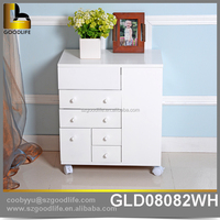 China cheap wooden storage cabinet with drawers wholesale