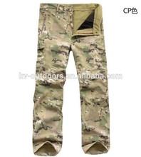 Impermeável ao ar livre calça militar tad v4.0 velo pele de tubarão soft shell calças