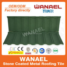 Classical Anti-UV colorful stone chips coated metal roof tile - Wanael/color roof/roof in cameroon,africa