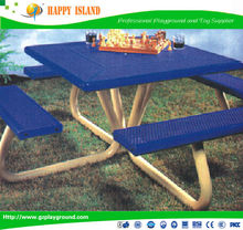 High Quality,Waterproof,Composite Park Benches Solid Wood Garden Table And Chairs