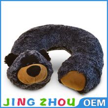 3D cartoon pillow U shape creative siesta pillow plush travel pillow
