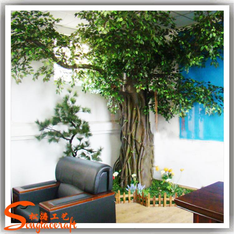Int rieure durable m tal arbre gardes tronc faux for Arbres en plastique artificiels