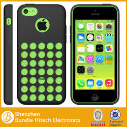 Hollow hole dots Silicone Cell phone Mobile phone Case for iPhone 5C. for iphone5c Punctate Silicone Shell Holes Soft Tpu Cover