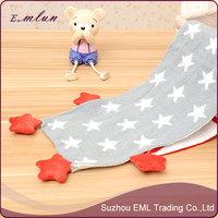 New Design Long National Flag Star Pattern Kid Kids Knitted Shawl