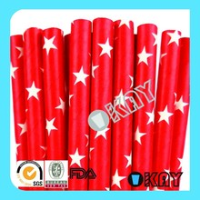 2015 Wholesale Red Star Craft Paper Straws Party Supplies