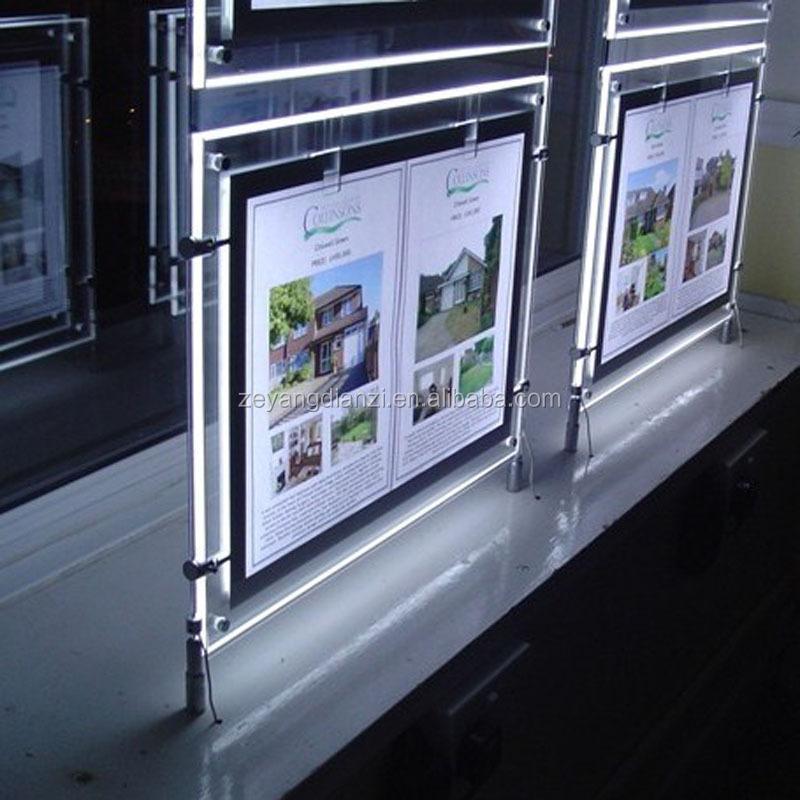 2016 Acrylic Magnetic LED Advertising Light Box/LED Poster Frame/LED light frame
