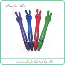2015 assorted colors plastic finger twist cheap fancy pens