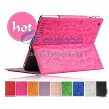 Stylish Leather case stand Cover for Ipad Mini, Magic Girl Leather cover case