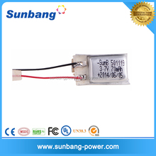 3.7 V 70 mAh Rechargeable Lithium Polymer used car battery