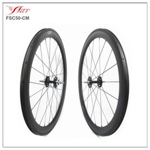 700C carbon bike wheel 50mmx20.5mm clincher carbon track wheelset with fixed gear Novatec single speed hub