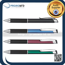China Pen Factory Metal Ball Pen Custom Clip Press Promotion Pen With Logo