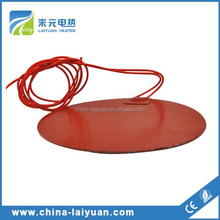 High Density 50w Flexible Silicone Rubber Heater Custom Pad