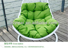 rattan swing egg chairs with cusion and iron frame YPS086