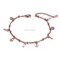 Fashion Design Rose Gold Anklets Foot Chain For Girls