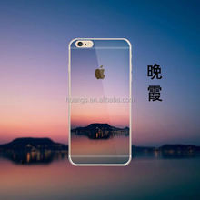 New Arrived Color Painting 3D Sunset Glow Design Soft TPU Case for iPhone 6