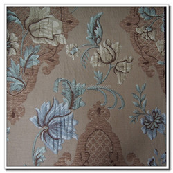 Elegant Flower Pattern Chenille Jacquard Sofa /Curtain Fabric Strong Stereo Sense Free Samples and Promotion Available
