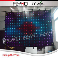 led lights new products 2016 torch light led video curtain/led stage backdrop