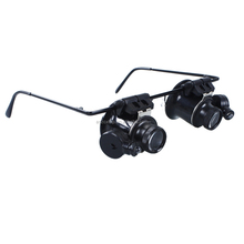 2015 High quality 20X Magnifier Magnifying Eye Glasses Loupe Lens With LED Light for Jewelery Watch Repair