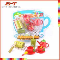2015 Hot sale top quality wooden kitchen toy set