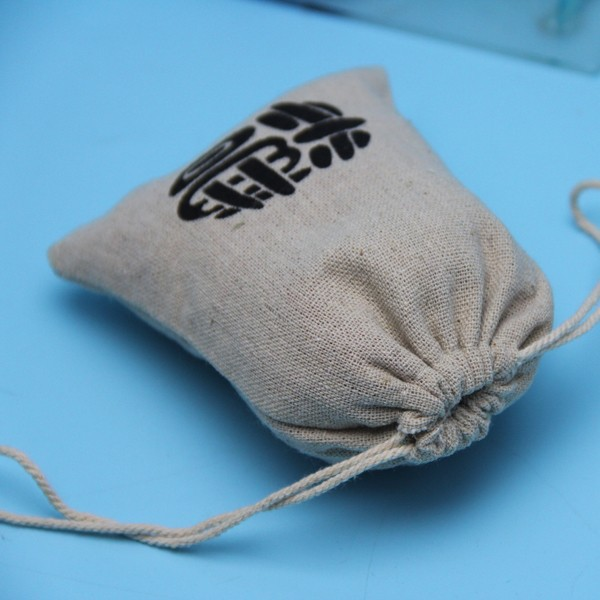 customized logo hand made drawstring jute bags wholesale lined