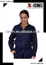 Breathable Soft Cotton Office Shirts for Ladies